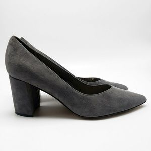 Marc Fisher Caitlin Gray Suede Leather Pointed Toe